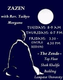 All Welcome to join Lampeter Sangha for Zazen