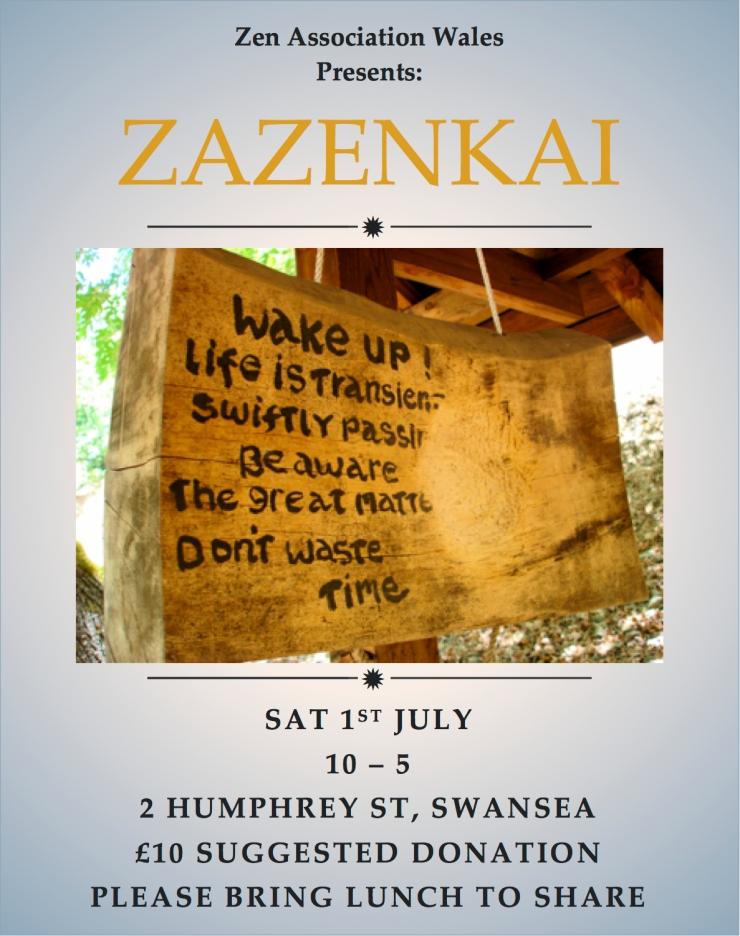 zazenkai july poster