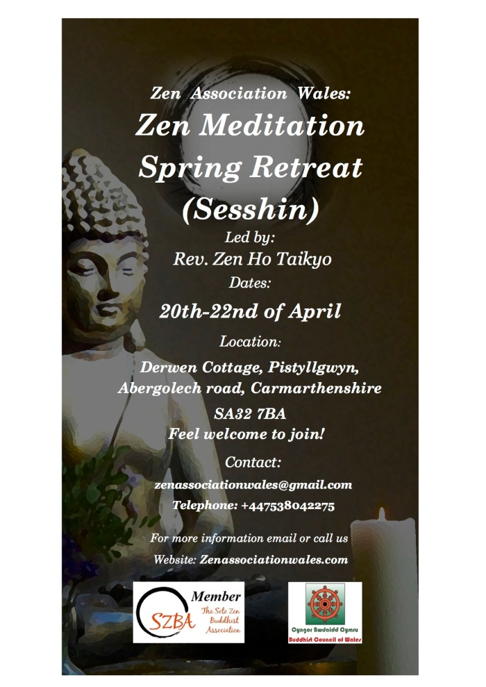 Sesshin Poster 20-22 April ZAW