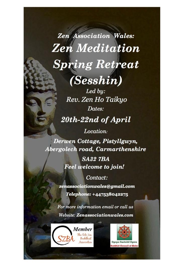 Sesshin Poster 20-22 April ZAW